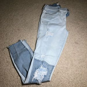 Pac Sun - Two Toned Super Stretch Jeggings
